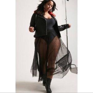 Sheer Tulle Bodysuit Dress